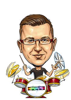 Karykatura Marcin Orzechowski
